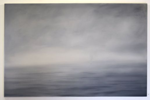 """He Is Only Found, I Think, In The Pacific, 32"""" x 47.5"""", oil on panel"""