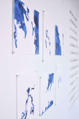 Radius Series (detail), ink on paper