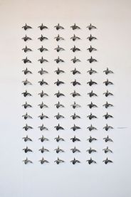 Southern Reisdent Killer Whales 3.0 (ink, paper, metal pins)