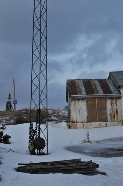 A tthe back of the studio (the studiouilding used to be a herring factory)