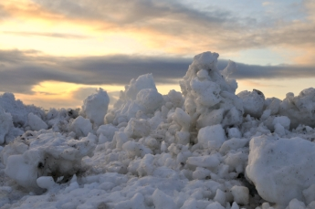 A Snow Bank in Skagastrond, Iceland