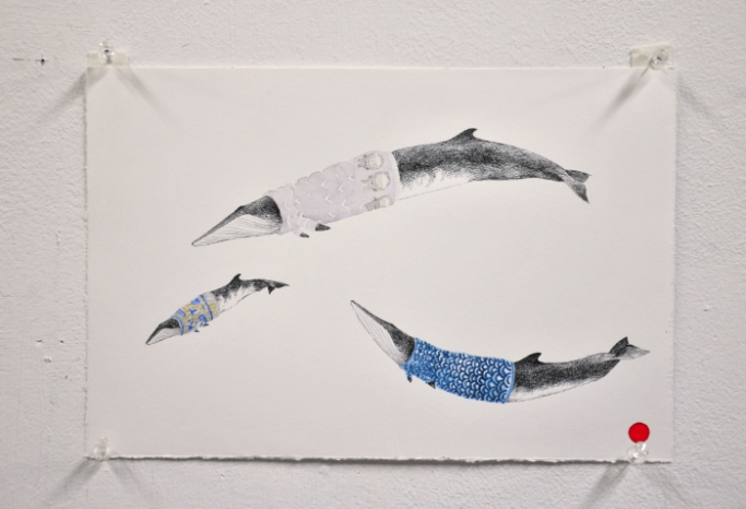 Cocoon Whales Japan Ink and Water Colour 7.5x11 2020