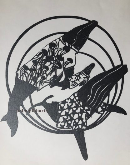 Hawaiian Humpies papercut by Leticiaà Legat