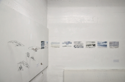 Open House My Studio Wall Watercolours and Wire Whales