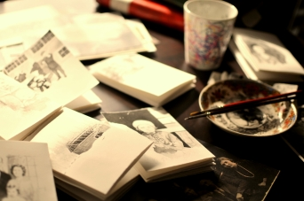 Studio Table Book of the North WIP 02